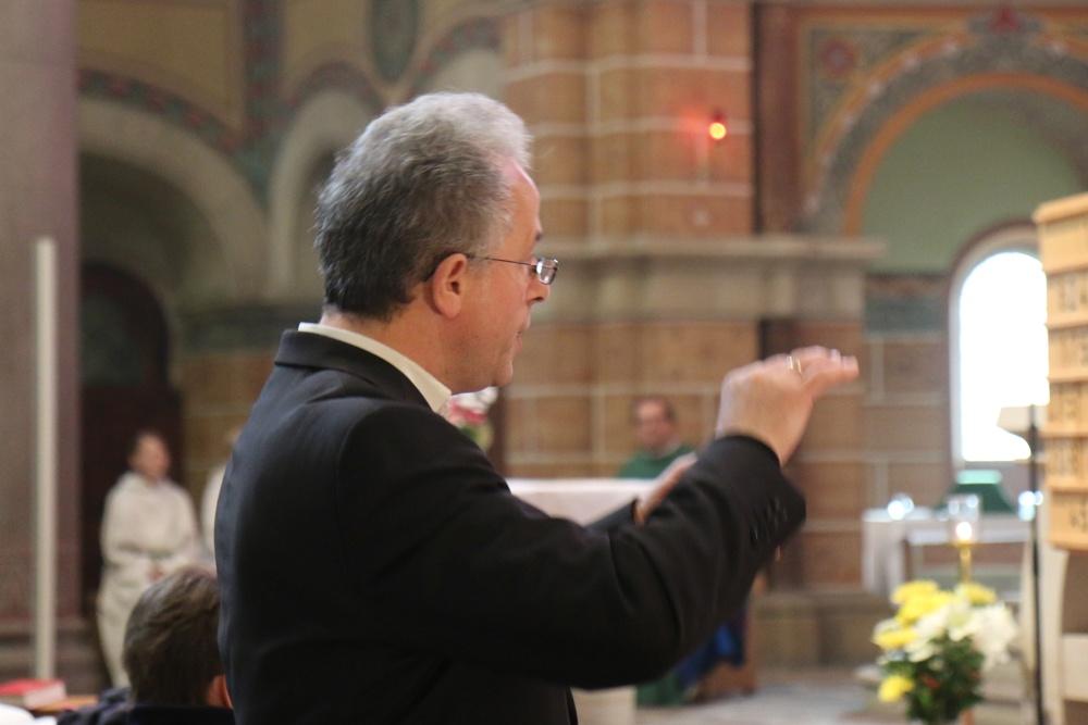 Chorleiter in St. Franziskus-Xaverius und pastoraler Mitarbeiter Jochen Schubert