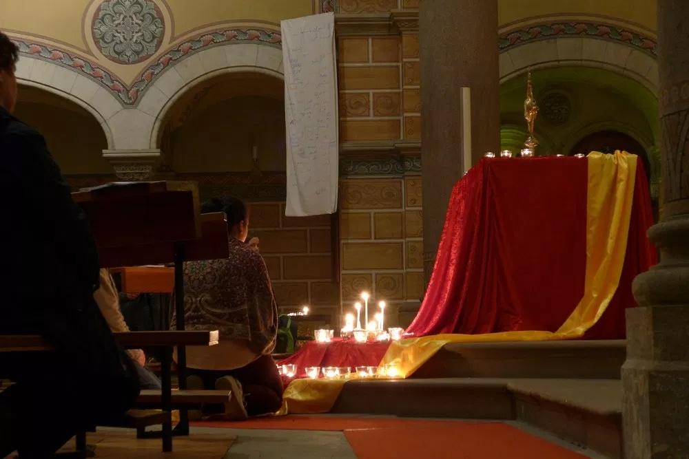 Anbetung zum Abend der Versöhnung März 2017 in St. Martin