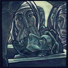 14. Station:<br>Jesus wird ins Grab gelegt<br>Menschen in den Schoß von Mutter Erde legen.<br>In den Schoß des Schöpfers zurückgeben. Gott anvertrauen, was ich nicht mehr halten kann, wo meine Möglichkeiten zu Ende  sind.