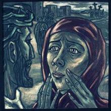 4. Station<br>Jesus begegnet seiner Mutter:<br>Blickkontakt, wortlose Begegnung, emotionale Nähe, sie kann nichts tun.