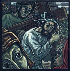5. Station<br>Jesus begegnet Simon von Cyrene<br>seinem Helfer – konkrete Hilfeleistung
