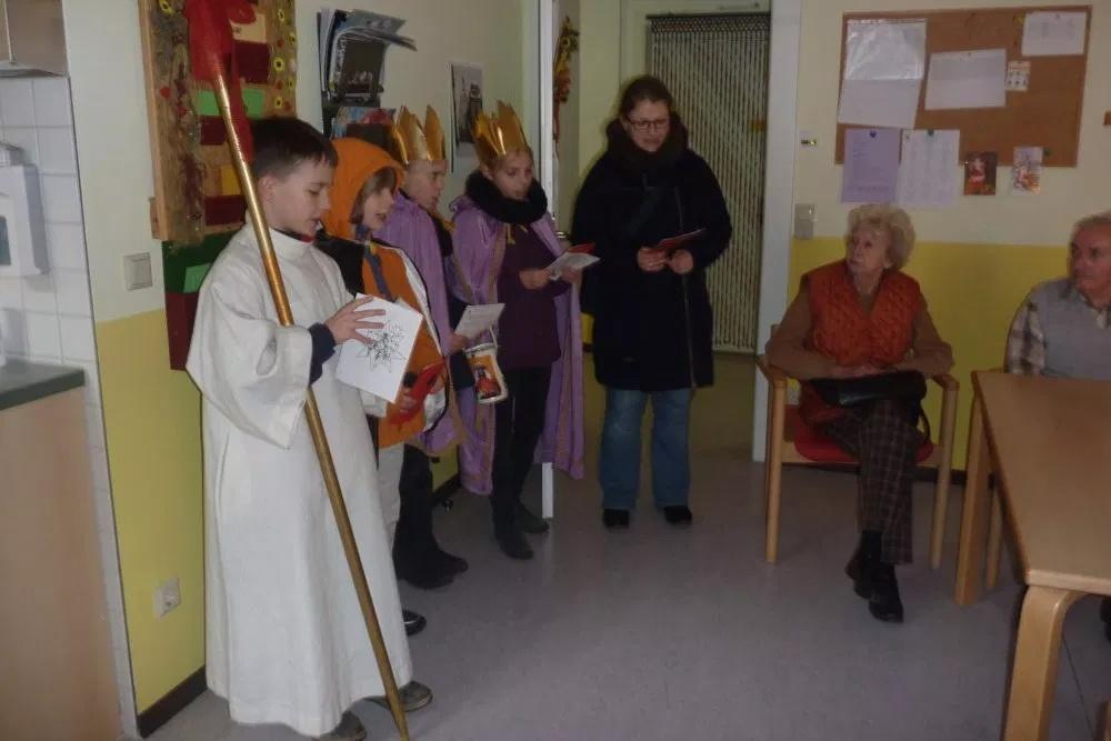 Sternsingen in der Tagespflege St. Anna