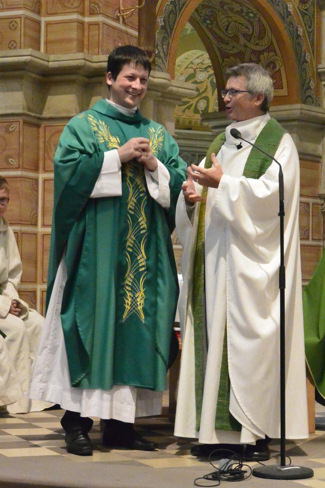 Dankesworte Pfarrer Posielek an Martin Kochalskie zur Verabschiedung