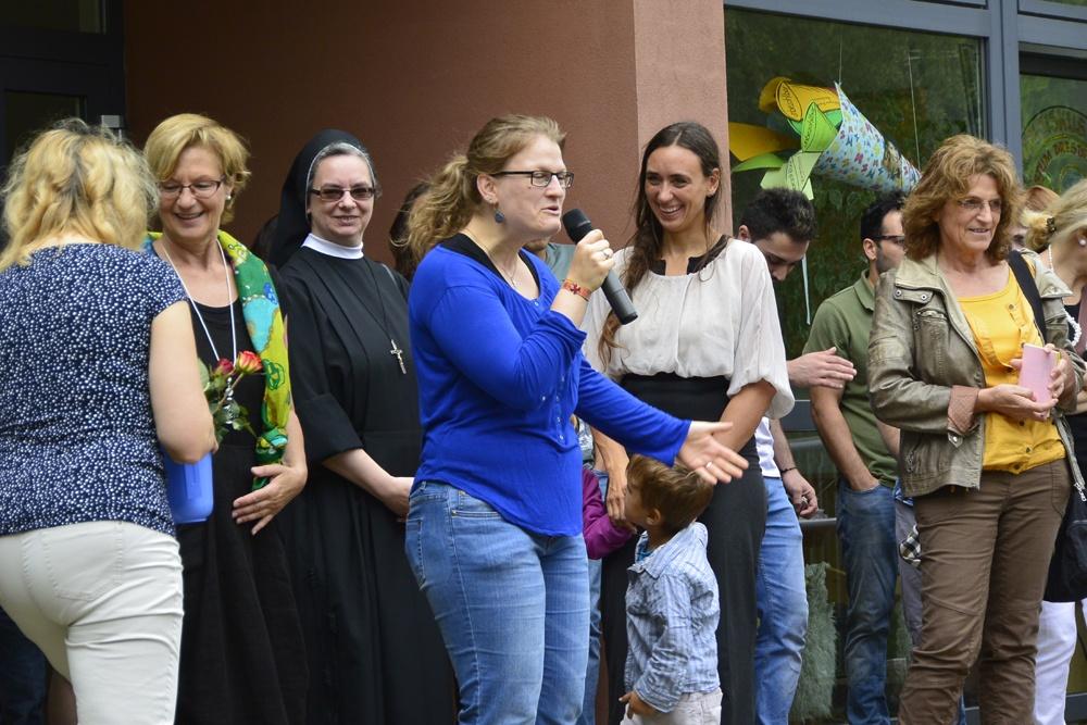 Das Projekt Bunte Kirche Neustadt wird vorgestellt mit der Sozialarbeiterin Melanie Jäkel und Antonia Kirtzel