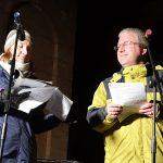 Die Moderatoren Patricia und Christoph