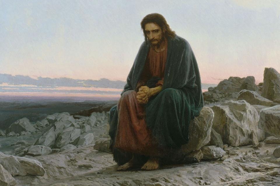 Christus in der Wüste (Kramskoi)
